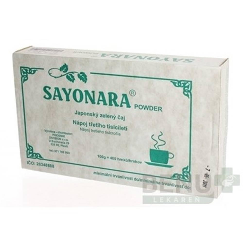 Fytopharma SAYONARA POWDER Japonský zelený čaj 4x25g