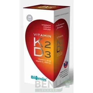 BIOMIN Vitamín K2 + D3 1000 I.U. 30 kapsúl