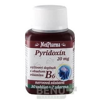 MEDPHARMA Pyridoxín 20 mg + vitamín B6 30 + 7 tabliet ZADARMO