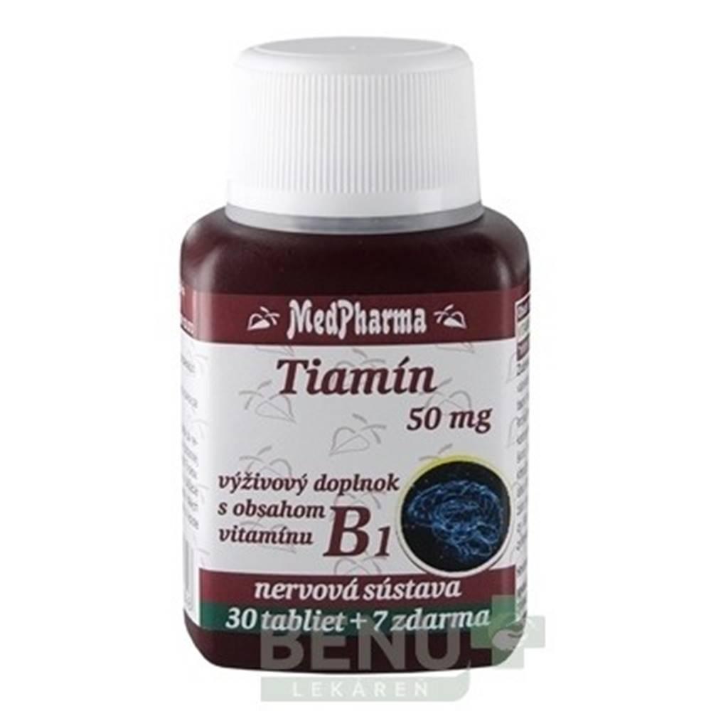 Medpharma MEDPHARMA Tiamín 50 mg + vitamín B1 30 + 7  tabliet ZADARMO
