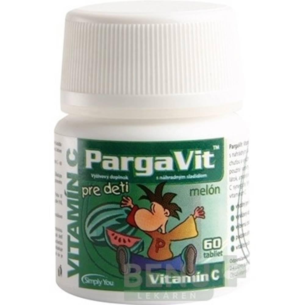 PargaVit PARGAVIT Vitamín C melón pre deti 60 tabliet