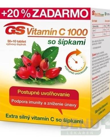 GS Vitamín C 1000 so šípkami 50 + 10 tabliet ZADARMO