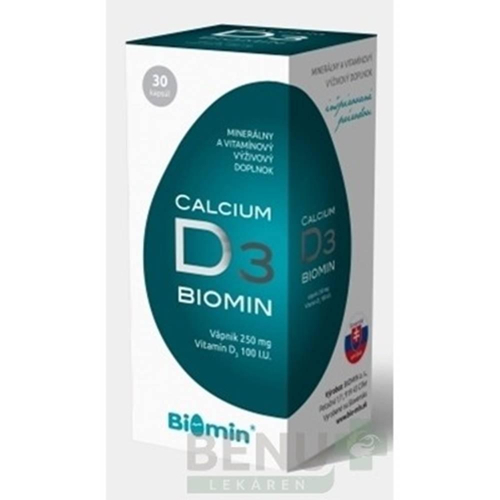Biomin BIOMIN Calcium s vitamínom D3 30 kapsúl