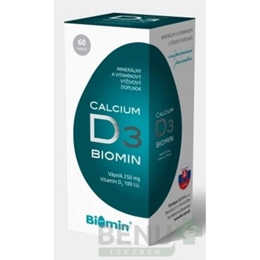 Biomin BIOMIN Calcium s vitamínom D3 60 kapsúl