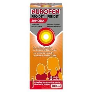 NUROFEN Sirup pre deti s príchuťou jahoda 100 ml