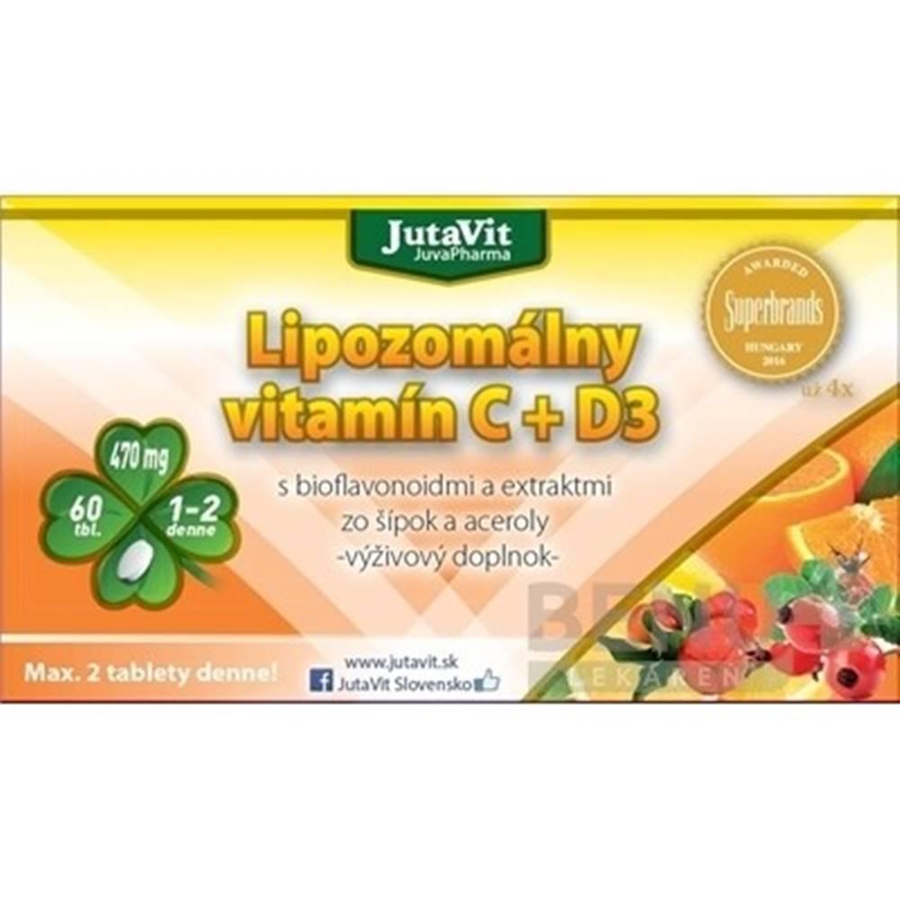 JUTAVIT JUTAVIT Lipozomálny vitamín C + D3 60 kapsúl