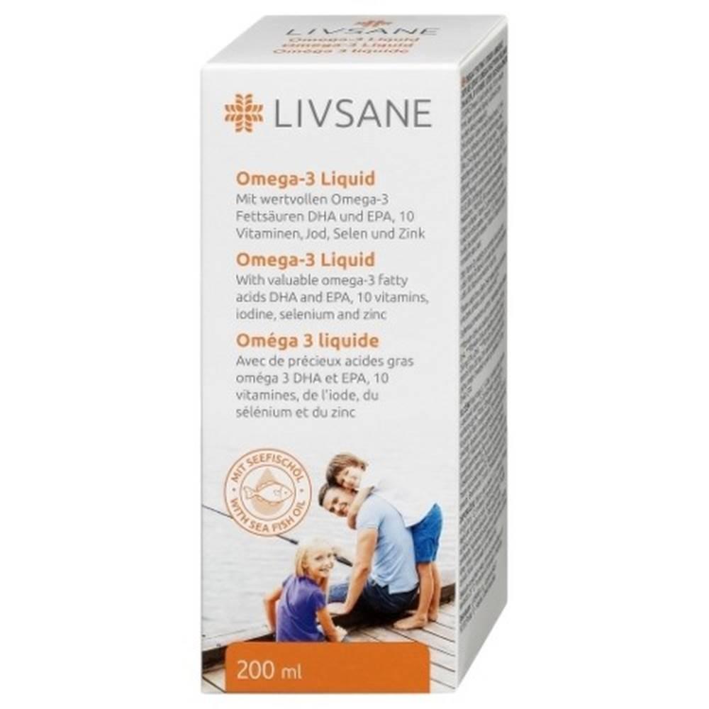 LIVSANE LIVSANE Omega-3 tekutina s vitamínmi a minerálmi liq por 200ml