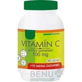 EDENPharma VITAMÍN C 100 mg príchuť pomaranč tbl 30+10 zdarma