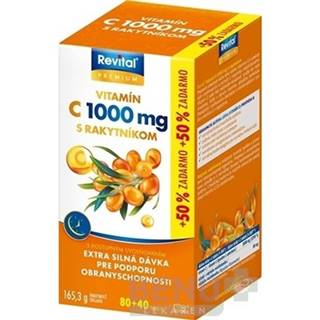 Revital PREMIUM VITAMIN C 1000 mg S RAKYTNÍKOM tbl 80+40