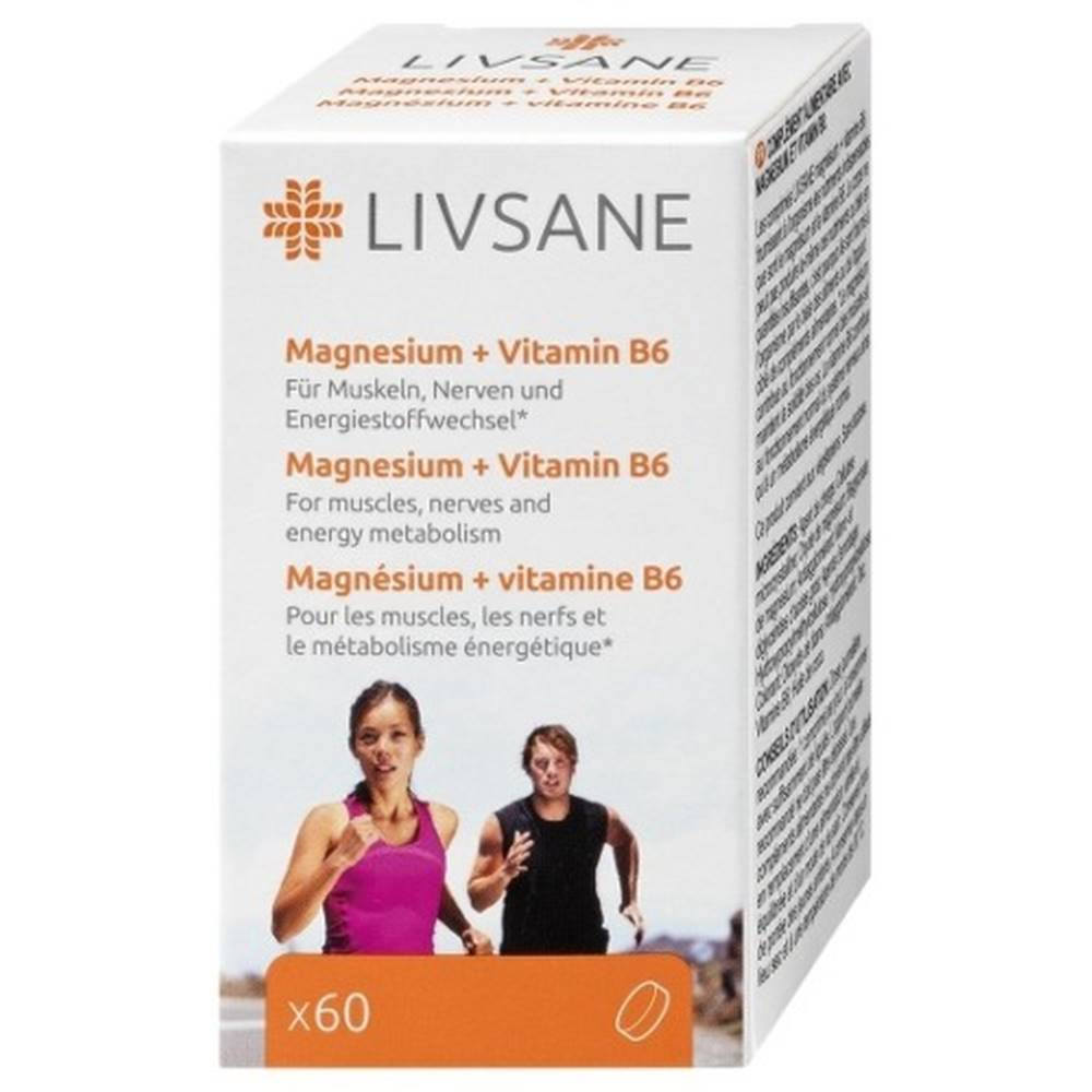LIVSANE LIVSANE Magnézium + vitamín B6 60 tabliet