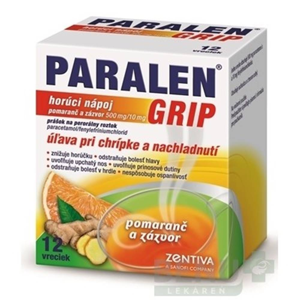 PARALEN PARALEN GRIP horúci nápoj pomaranč a zázvor 12 vreciek