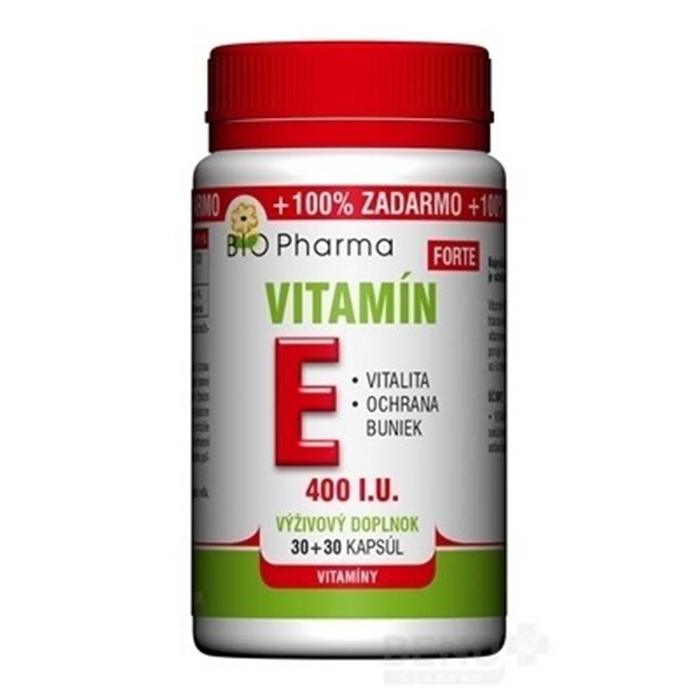 Laverna trade, s.r.o. (SVK) BIO Pharma Vitamín E FORTE 400 I.U cps 30+30 (100% ZADARMO) (60 ks)