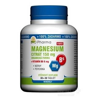 BIO Pharma Magnesium citrát 150mg + Vitamín B6 tbl 30+30 (100% ZADARMO) (60 ks)