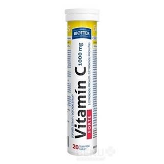 BIOTTER Vitamín C force 1000 mg 20 šumivých tabliet