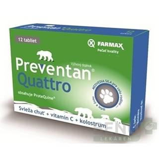 FARMAX Preventan quattro + vitamín C 12 tabliet