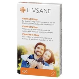 LIVSANE Vitamín D 20 mcg 60 tabliet