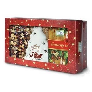 FYTO Darčeková kazeta Vianočný čaj sypaný 100 g + porciovaný 20 x 2 g + svietnik