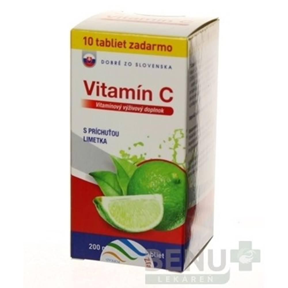 Dobré z SK Dobré z SK Vitamín C 200 mg príchuť LIMETKA tbl 60+10
