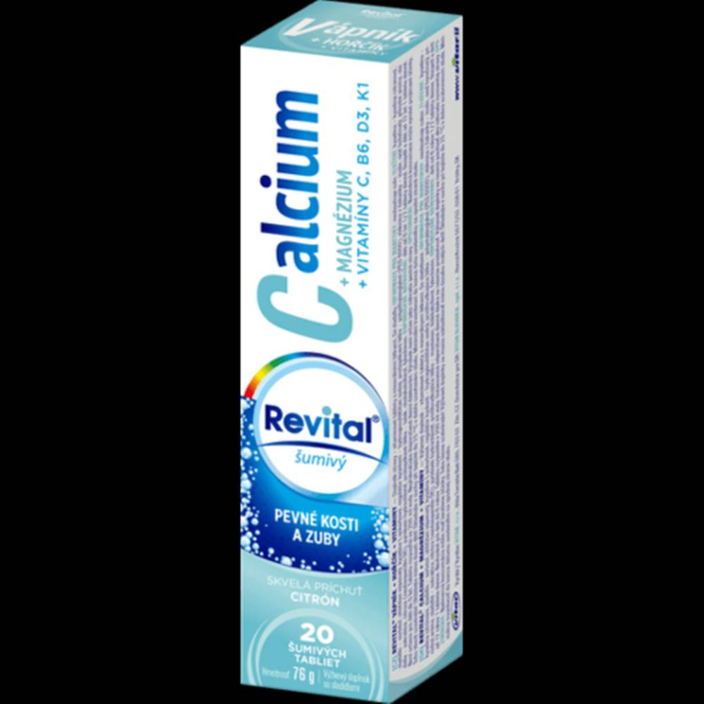 Vitar s.r.o., Zlin REVITAL Calcium + magnézium + vitamíny C, B6, D3, K1 20 šumivých tabliet