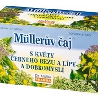 Müllerov čaj s kvetmi bazy, lipy a pamajoranom