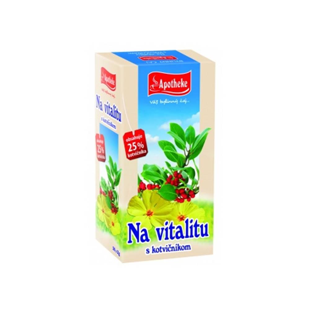 MEDIATE s.r.o. APOTHEKE Čaj na vitalitu s kotvičníkom n.s.
