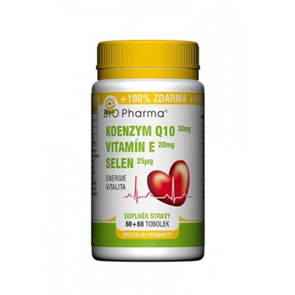 Laverna trade, s.r.o. Bio Pharma Koenzým Q10 30 mg + Vitamín E + Selén 60 + 60 cps
