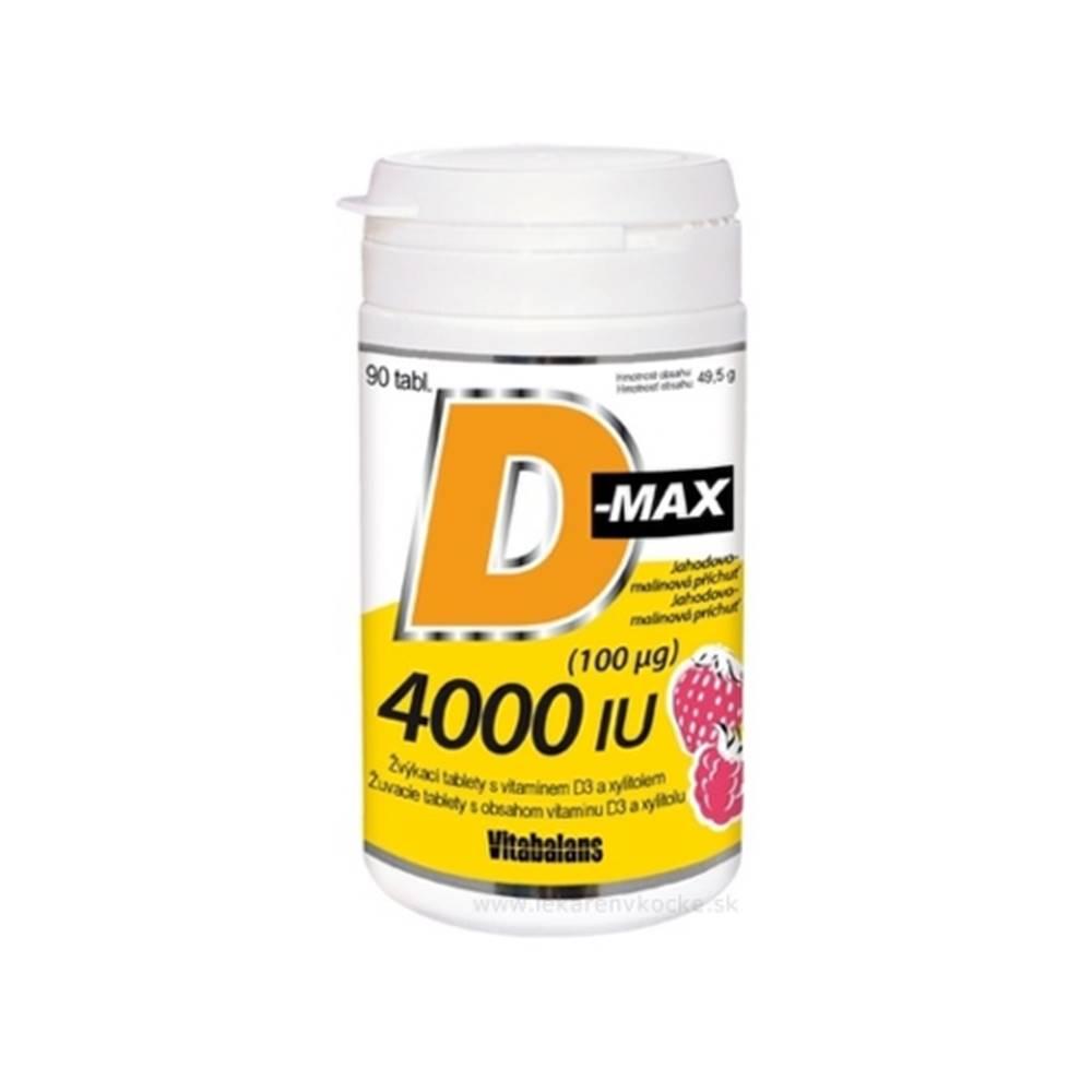 Vitabalans VITABALANS D-max 4000 IU (100 µg) 90 žuvacích tabliet