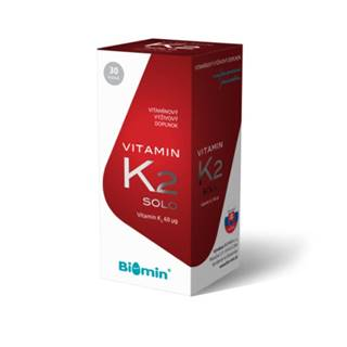 BIOMIN Vitamín K2 solo 30 kapsúl