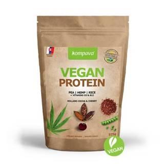 KOMPAVA Vegan protein s príchuťou čokoláda a višňa 525 g