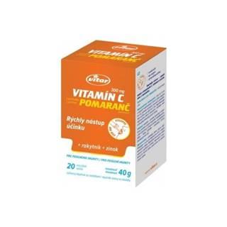 VITAR Vitamín C 300 mg + rakytník + zinok s pomarančovou príchuťou 20 vreciek