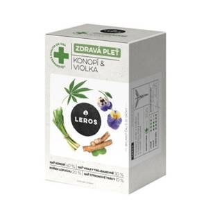 LEROS Čaj zdravá pleť konope a fialka 20 x 1,5 g