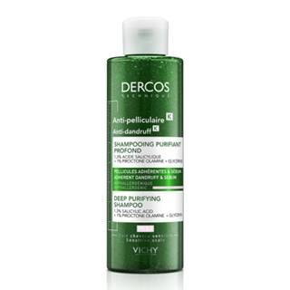 VICHY Dercos šampón proti lupinám na mastné vlasy a peelingovým efektom 250 ml